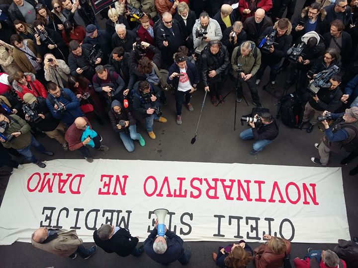 Jučer smo bili među brojnim prosvjednicima koji …