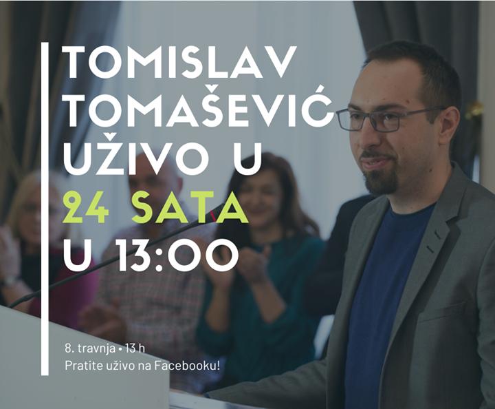 Tomislav Tomašević danas u 13h uživo u  studiju…
