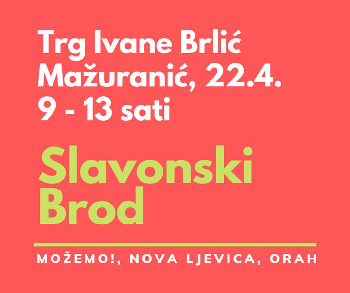 Danas smo s građanima u Slavonskom Brodu, na Trgu…
