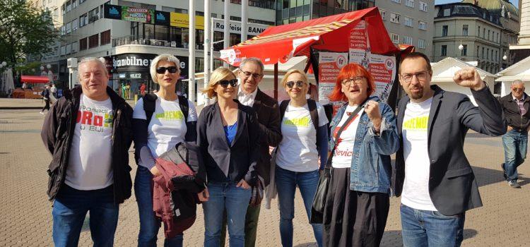 Koalicija zelene ljevice na Praznik rada poručila: SDP-ova podrška sindikalnoj referendumskoj inicijativi je licemjerna