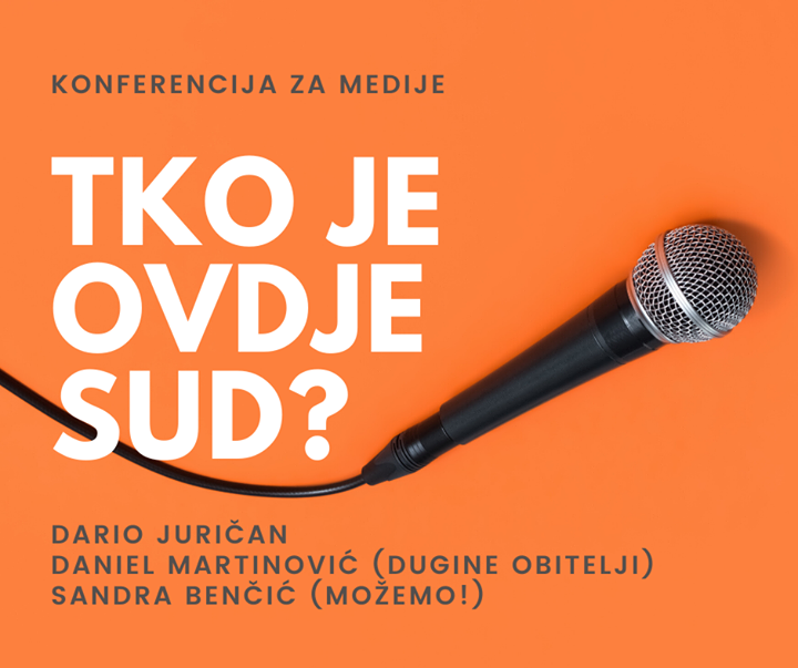 NAJAVA:  konferencija za medije, utorak 4.2.2020. …