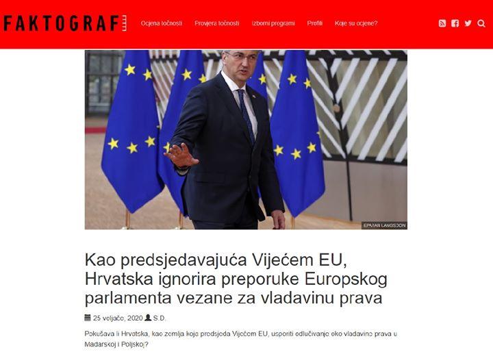 Ponovno problemi Hrvatsko predsjedanje Vijećem EU…