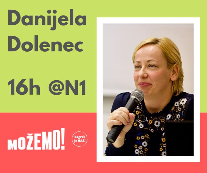 Naša Danijela Dolenec danas u 16 sati na N1 Telev…