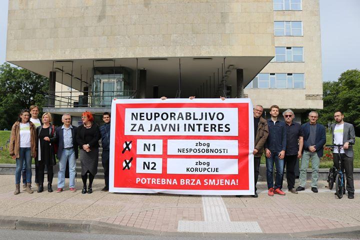 Na Dan grada Zagreba, jutros smo na zgradu gradsko…