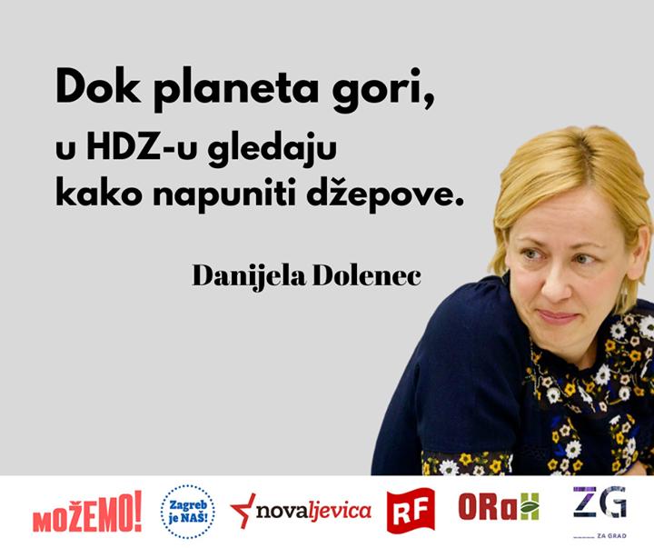 "Danijela Dolenec o ""zelenim"" politikama HDZ-a na d…"