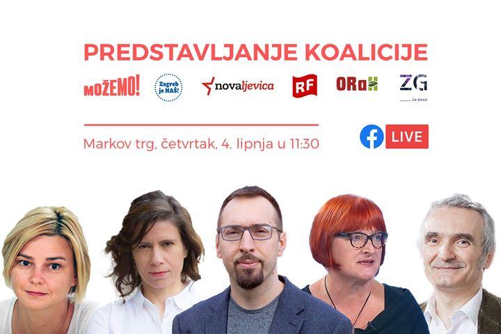 U 11:30 ćemo na Markovom trgu predstaviti koalici…