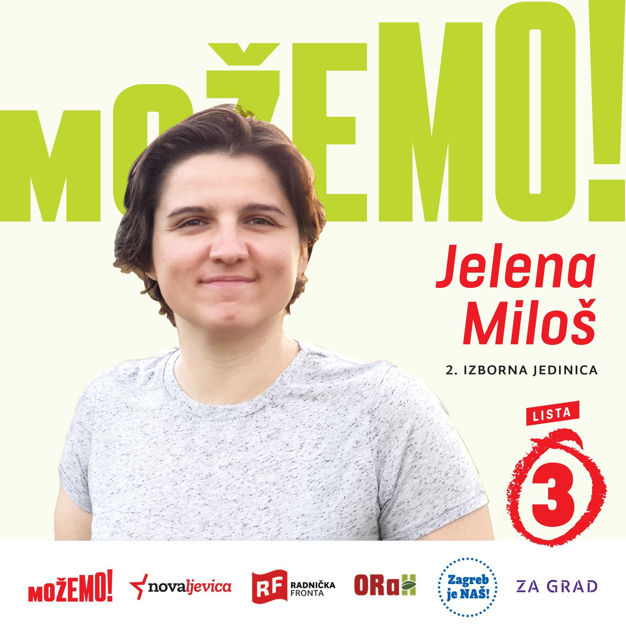 Predstavljamo Jelenu Miloš, drugu na našoj listi u 2. izbornoj jedinici!