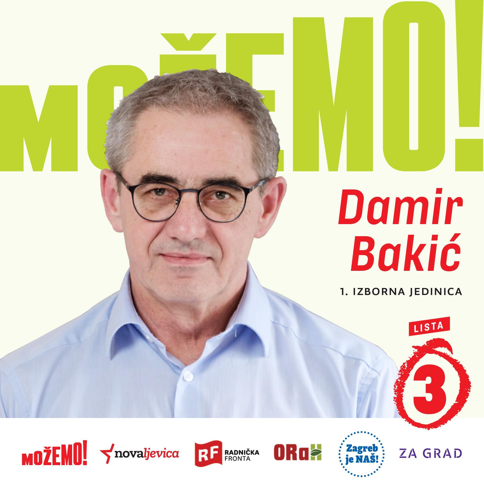 Predstavljamo još jednog kandidata na našoj listi u 1. izbornoj jedinici – Damira Bakića!