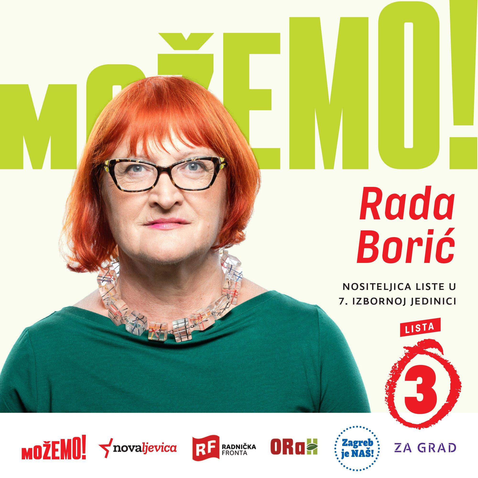 Predstavljamo Radu Borić, prvu na našoj listi u 7. izbornoj jedinici!