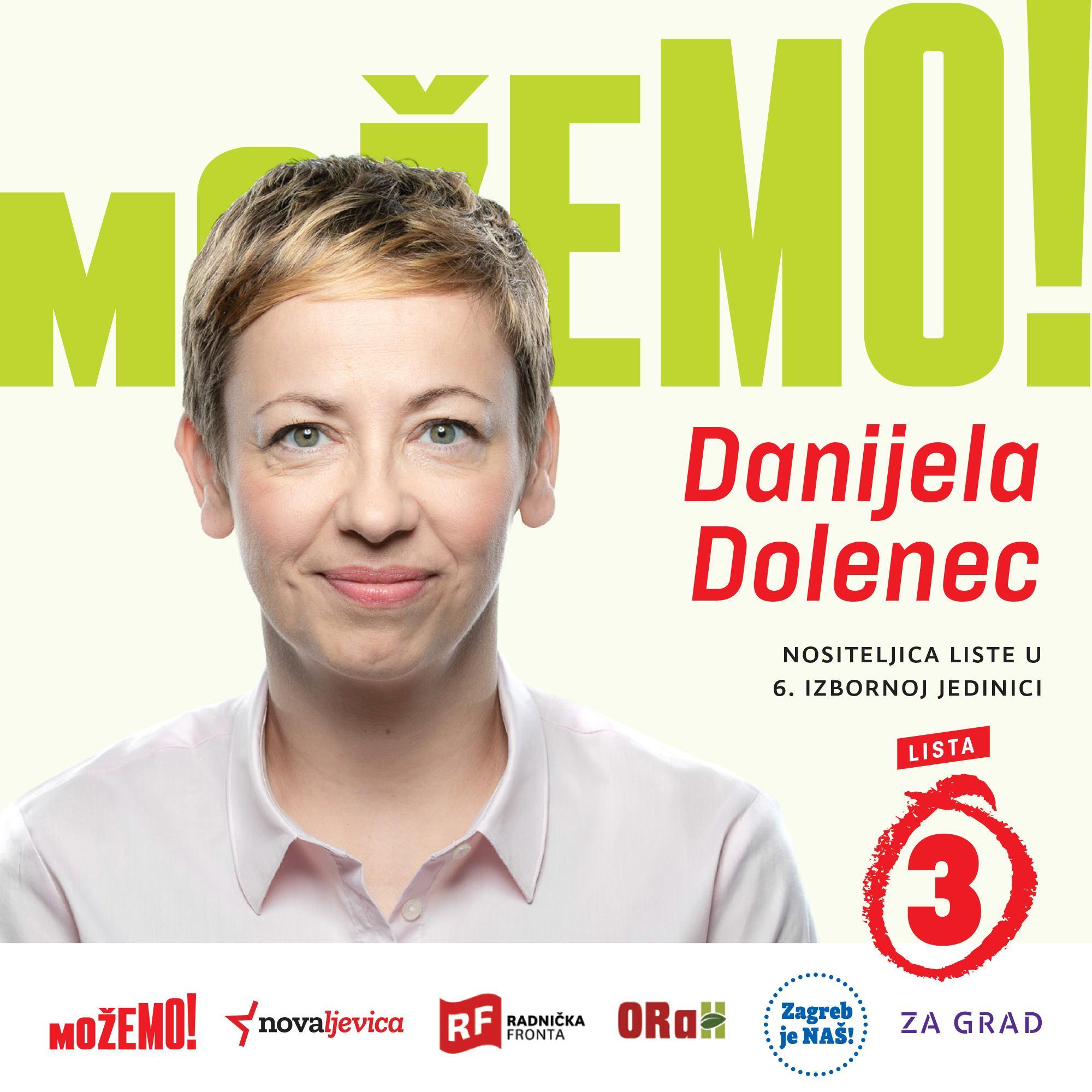 Predstavljamo Danijelu Dolenec, prvu na našoj listi u 6. izbornoj jedinici!