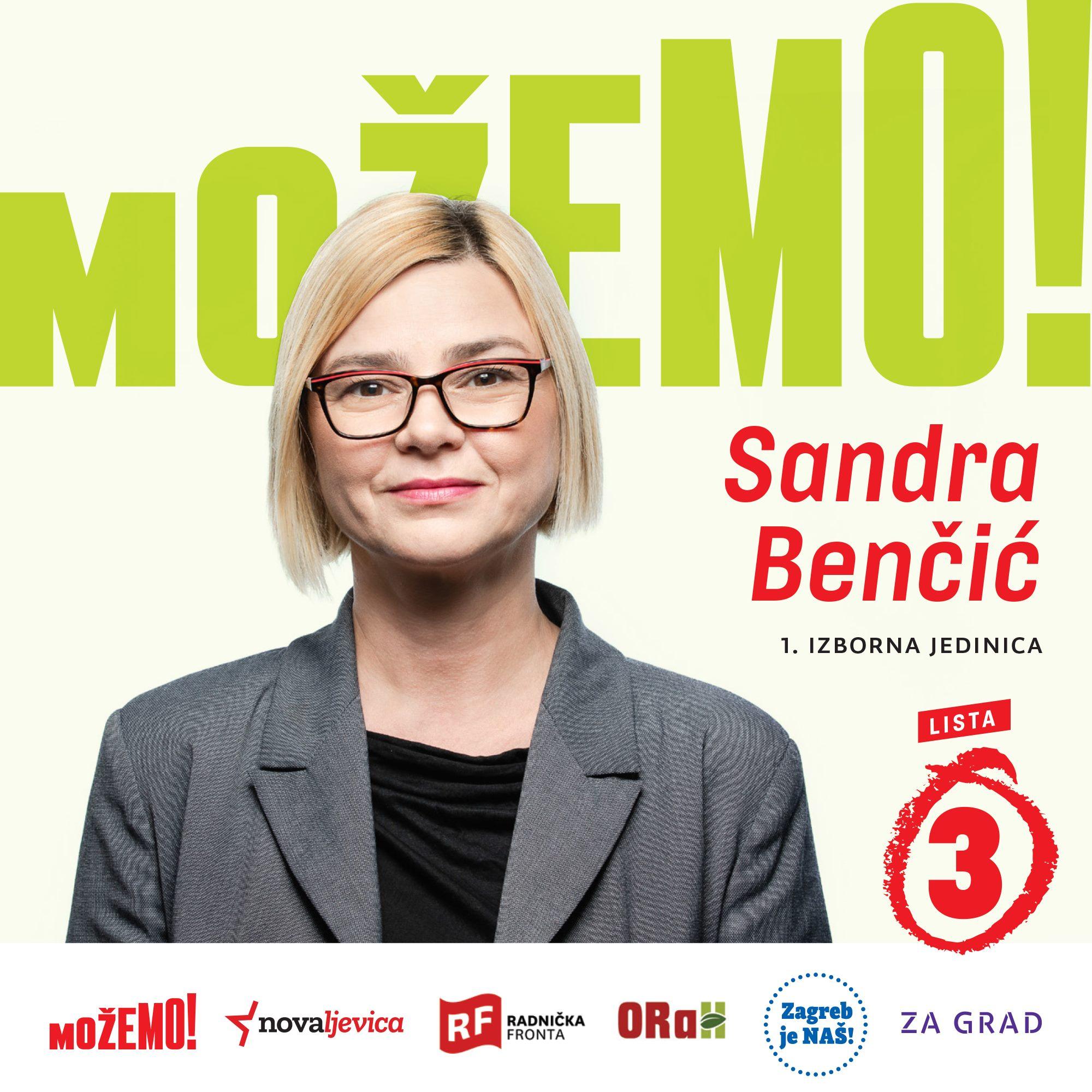 Predstavljamo drugu na našoj listi u 1. izbornoj jedinici – Sandru Benčić!