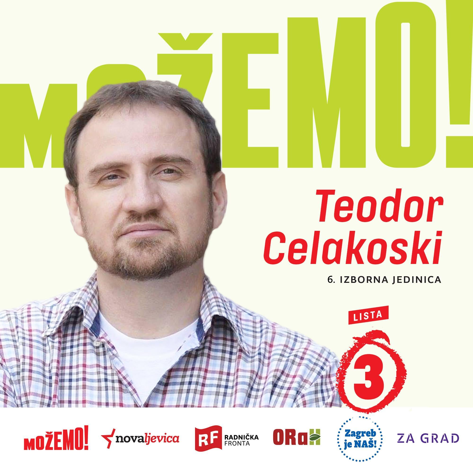 Predstavljamo drugog na našoj listi u 6. izbornoj jedinici – Teodora Celakoskog!