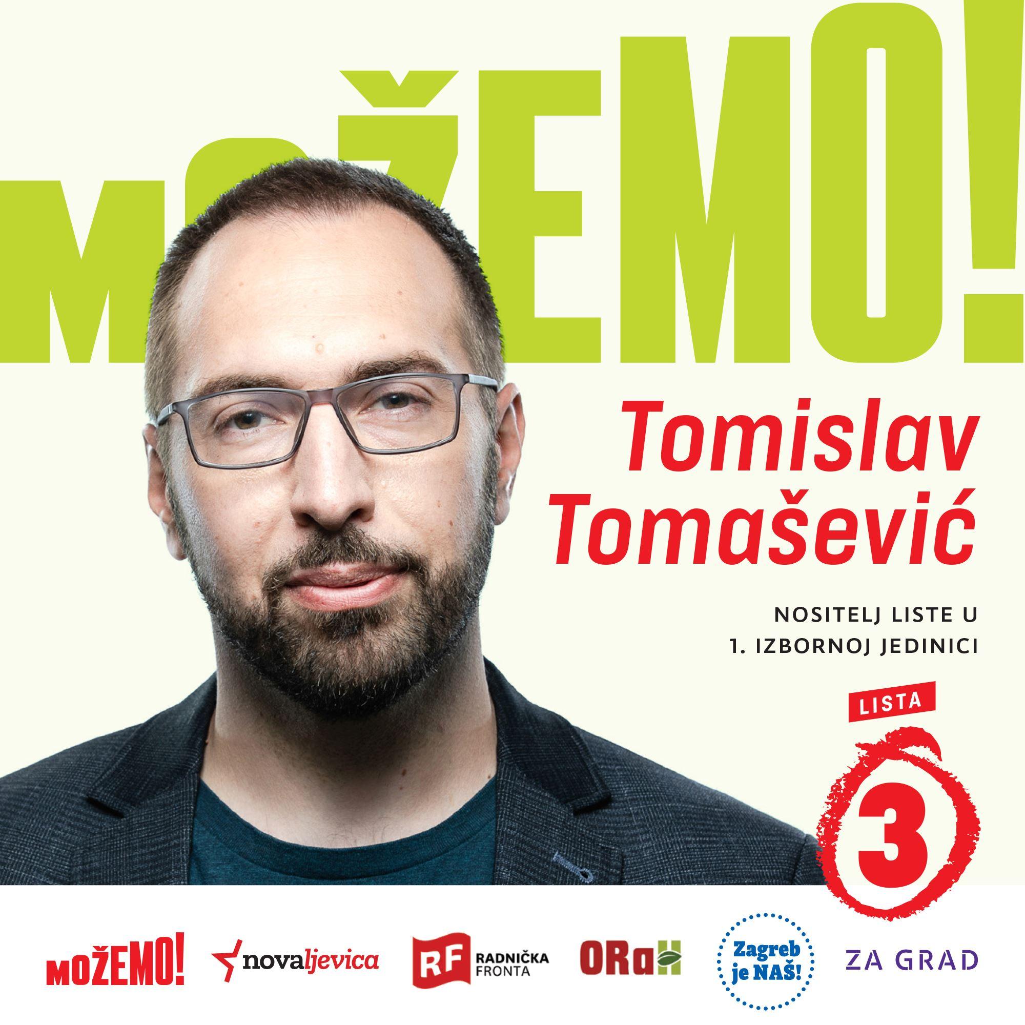 I za kraj, predstavljamo nositelja naše liste u 1. izbornoj jedinici – Tomislava Tomaševića!